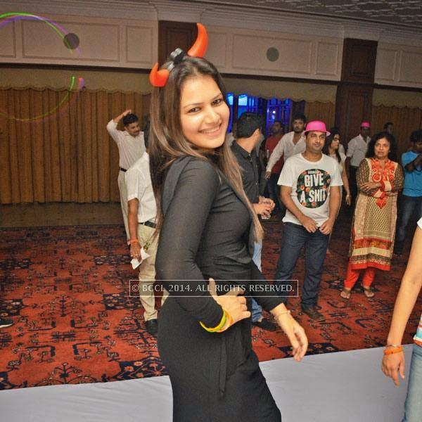 Radhika at a party, held in Bhopal.