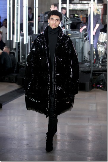 NEW YORK, NY - FEBRUARY 13:  A model walks the runway wearing look # 78 for the Philipp Plein Fall/Winter 2017/2018 Women's And Men's Fashion Show at The New York Public Library on February 13, 2017 in New York City.  (Photo by Thomas Concordia/Getty Images for Philipp Plein)