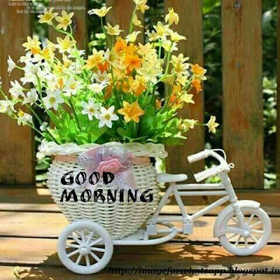 Good Morning with Flowers Cart