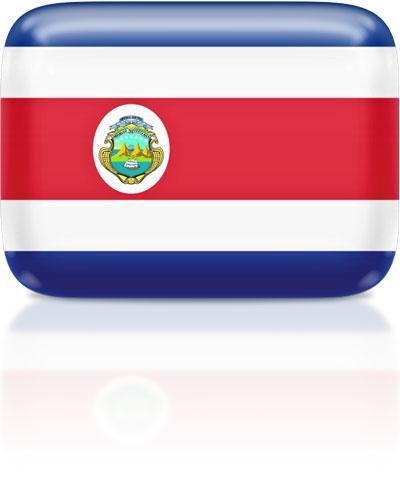 Costa Rican flag clipart rectangular
