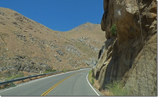 Tight fit along Highway 178 headed to Lake Isabella