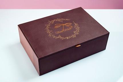 Коробка подарункова темна