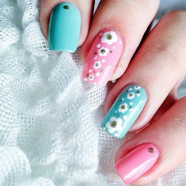 Latest Flower Nail Art Desgins Ideas In 2018 8