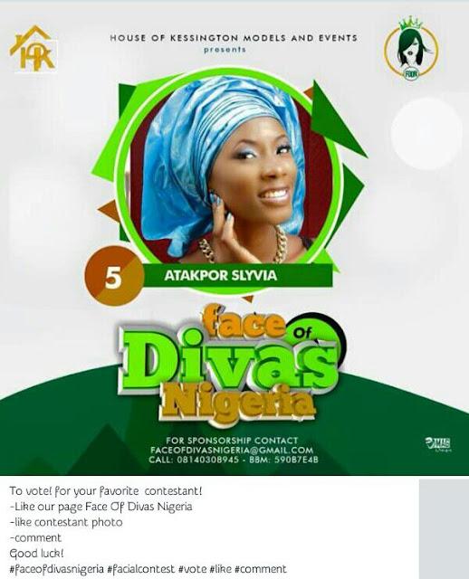 Vote For Face of Diva Nigeria