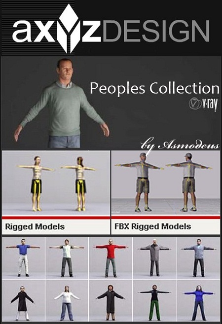 3D-XPLORE: Axyz Design People Models Collection