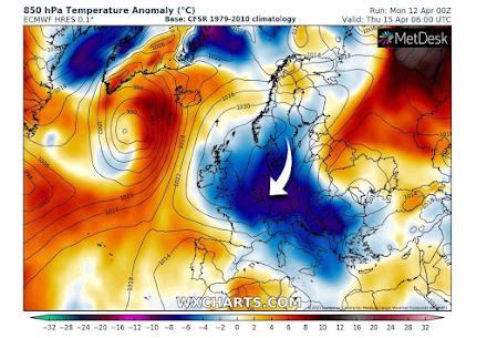 Νέα ψυχρή μάζα αέρα εξαπολύει η Αρκτική στην Ευρώπη