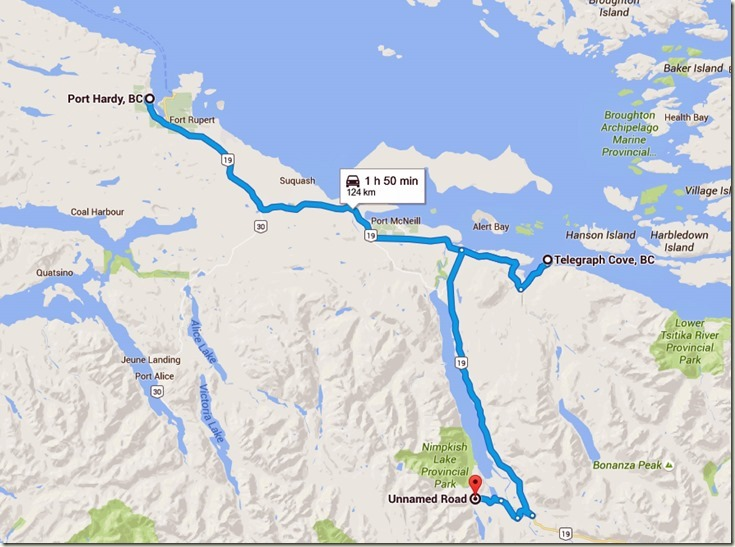 Port Hardy to Unnamed Road, Mount Waddington D, BC V0N - Google Maps