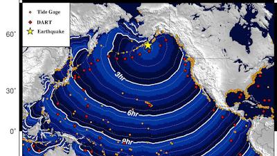 terremoto de magnitud 8.2 se produjo el jueves por la mañana frente a la costa de la península de Alaska