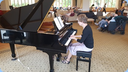 Denise Gunson gave us a mini concert on the grand piano.