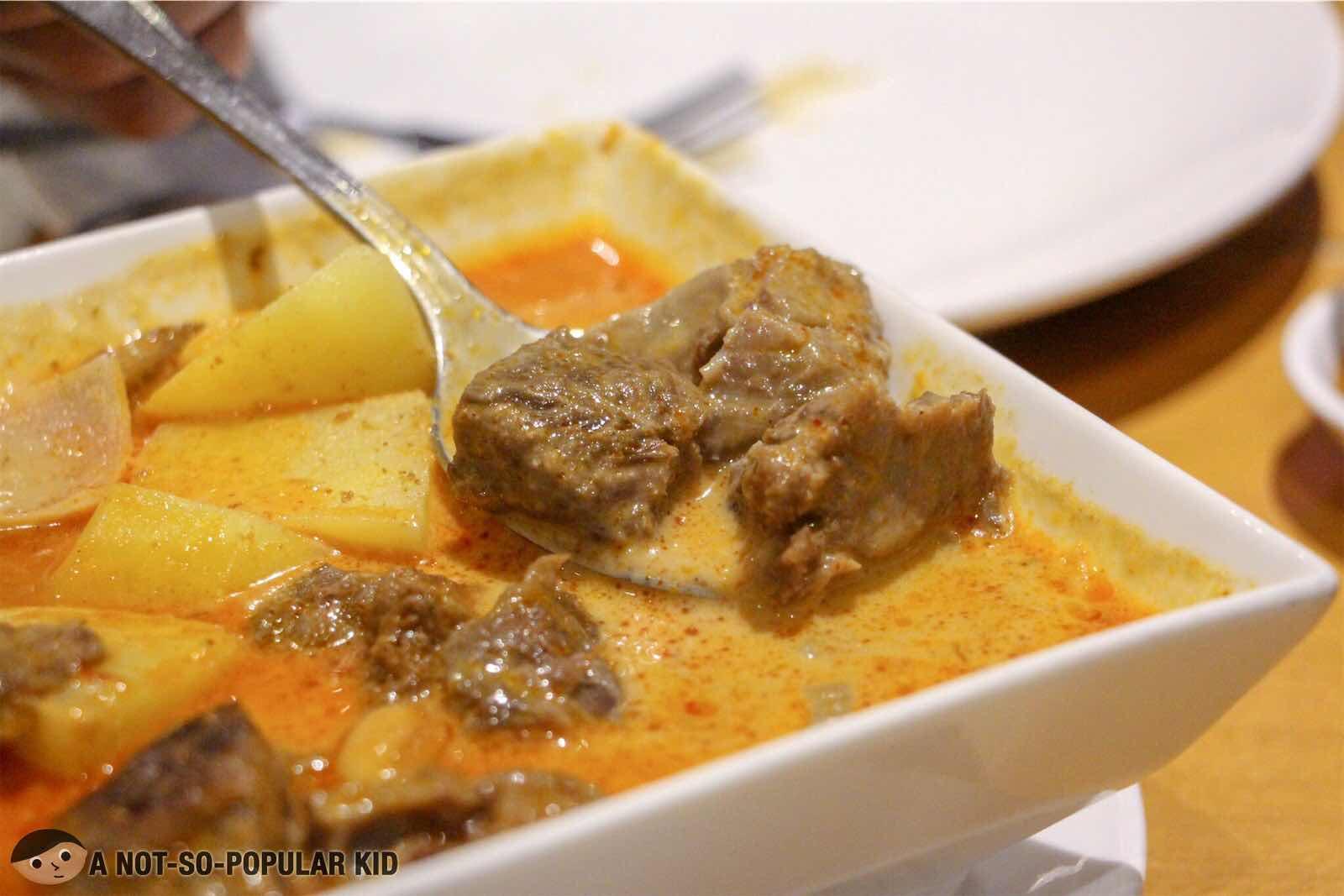 Masaman Beef Curry- close up - Thai Dish