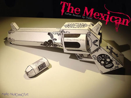 The Mexican Revolver Paper Toy