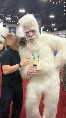 Horse meets Yeti of Great Divide and whispers secrets to him