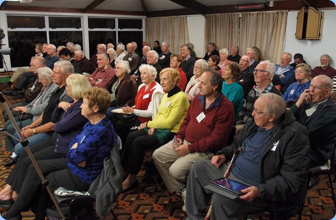 Some of the audience entralled with the wonderful music from our guest artists. Photo Courtesy of Dennis Lyons.