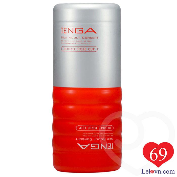 Tenga Double Hole Cup là sản phẩm sextoy dạng cốc chính hãng Tenga Nhật Bản