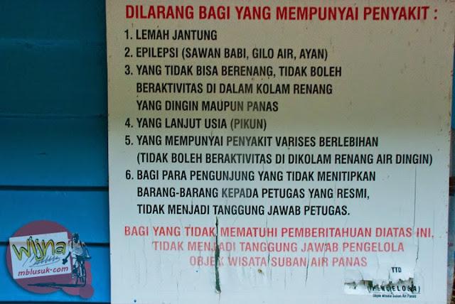 Ganti Tujuan ke Air Terjun Suban Air Panas di kota Curup kabupaten Rejang Lebong