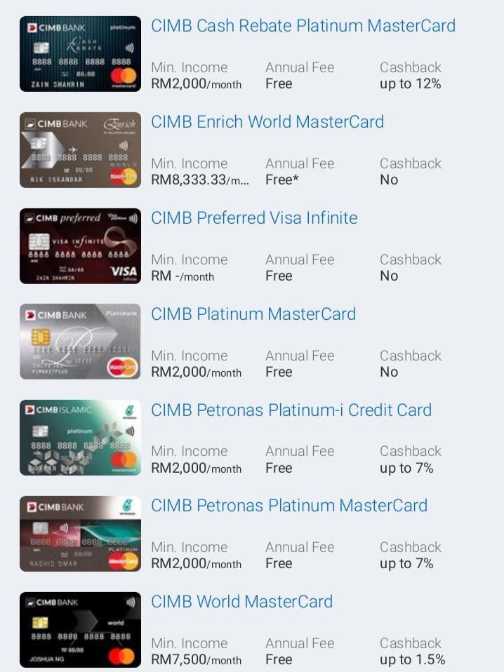 Kad Kredit CIMB Bank