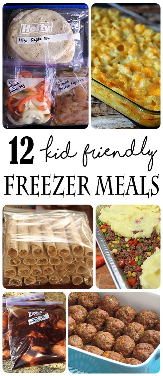 Kid friendly Freezer Make Ahead Meals. Busy moms love easy and fast recipes that are waiting in the freezer