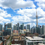 the ever growing Toronto skyline with King Street taking from Lavelle in Toronto, Ontario, Canada