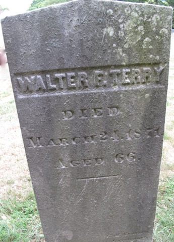 Terry Walter F. cemetery stone