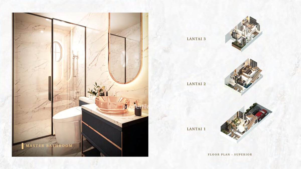 Master Bathroom Rumah Bukit Podomoro Jakarta Tipe 6