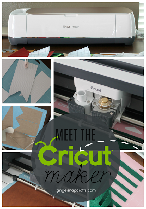 Meet the Cricut Maker at GingerSnapCrafts.com #CricutMade #CricutMaker