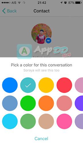 วิธีเปลี่ยนสีธีม Facebook Messenger และปุ่มอีโมจิ