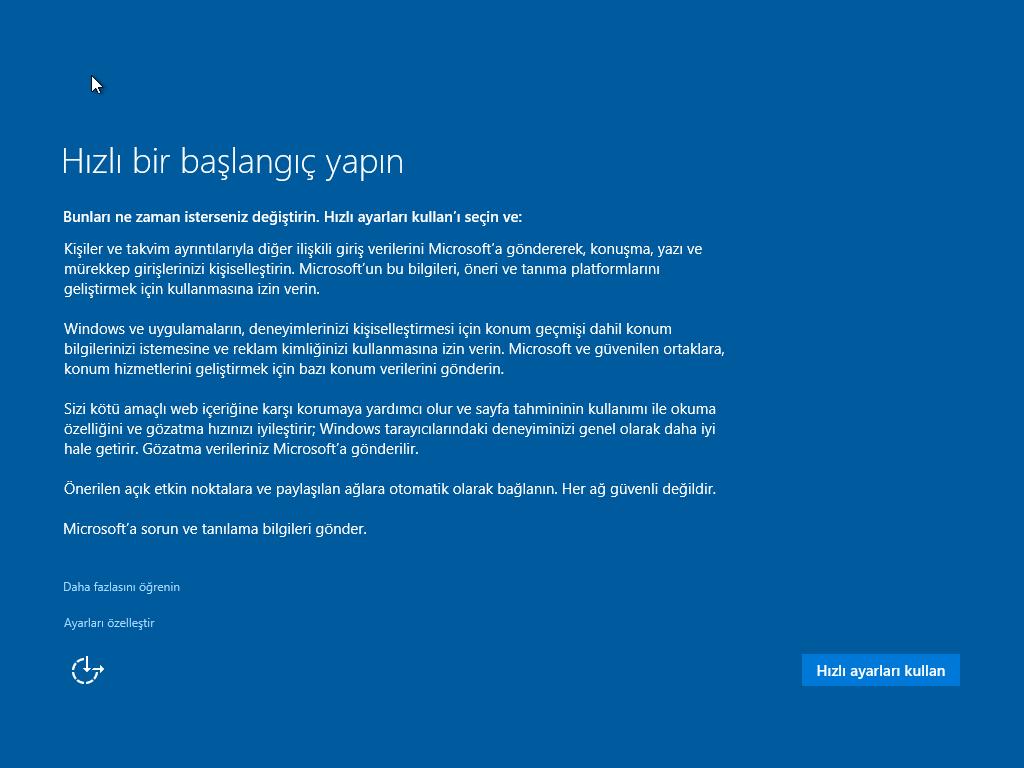 Windows 10 - Home - Pro 32 ve 64 Bit Türkçe MSDN Final - Tek Link indir