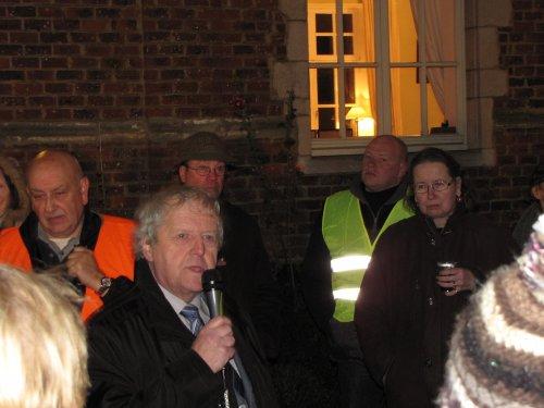 Willy Juwet, de Kesterse streekkenner vertelt wat verhalen over de locatie.