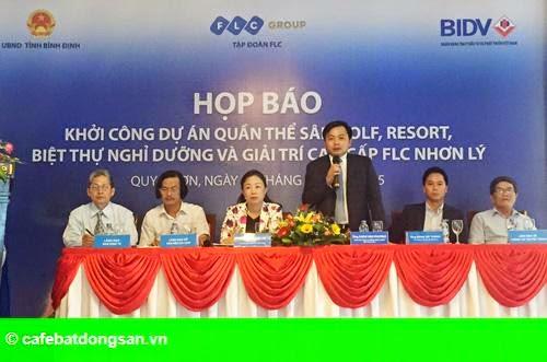 Hình 1: Tập đoàn FLC khởi công dự án Quần thể sân golf và resort 3.500 tỷ đồng tại Bình Định