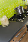 Polished Taupe kitchen worktop