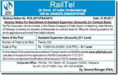 RailTel Assistant Supervisor Jobs 2017 www.indgovtjobs.in