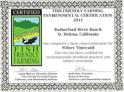 Rutherford River Ranch Fish Friendly Farming Certificate