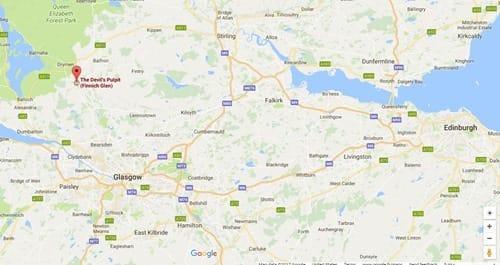 Devils Pulpit location map