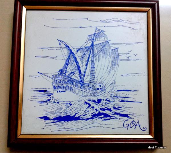 Portuguese Ship goa waters
