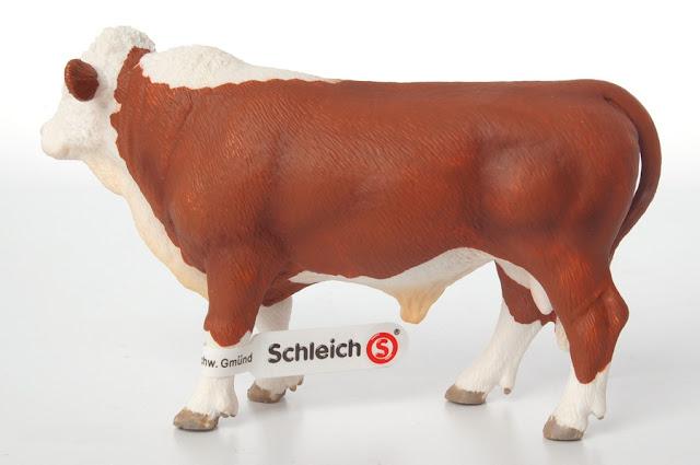 Mô hình Bò thịt Schleich Hereford Bull an toàn đối với trẻ nhỏ