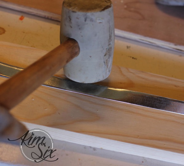 Bending sheet metal with a rubber mallet