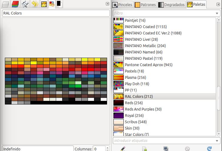 Paletas de colores para gimp inkscape y blender en ubuntu - Paleta de colores pared ...