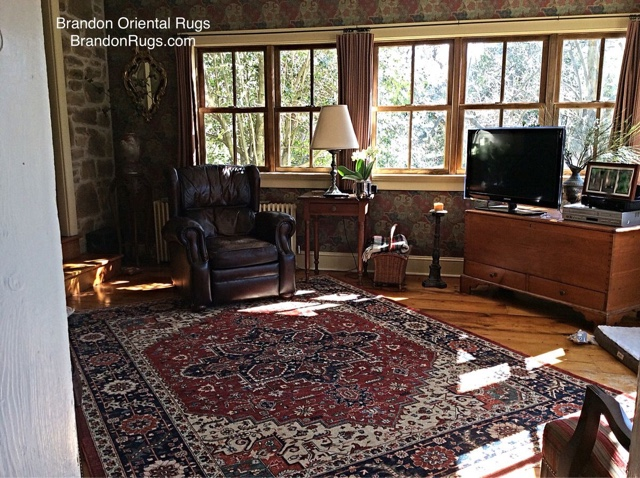 Brandon Oriental Rugs Historic Doylestown Pa Farmhouse Sunroom
