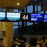 boarding at Narita Airport, Japan in Vancouver, British Columbia, Canada