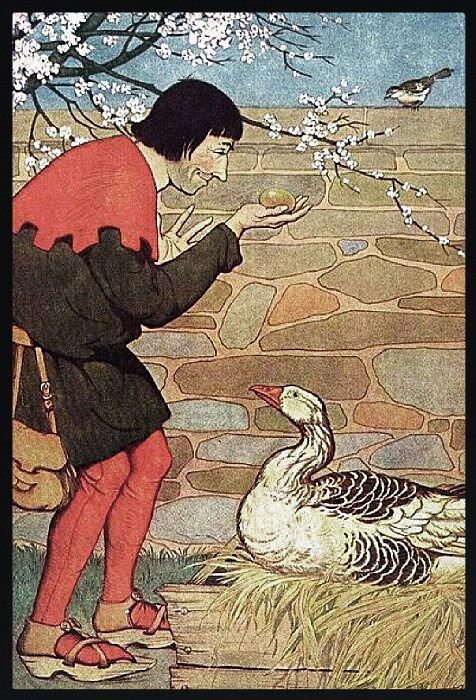 the goose that laid the golden To kill the goose that laid the golden eggs is an idiom used of an unprofitable action motivated by greedit refers to one of aesop's fables, numbered 87 in the perry index, a story that.