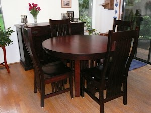 48″ Vail Dining Table and Chairs in Cherry