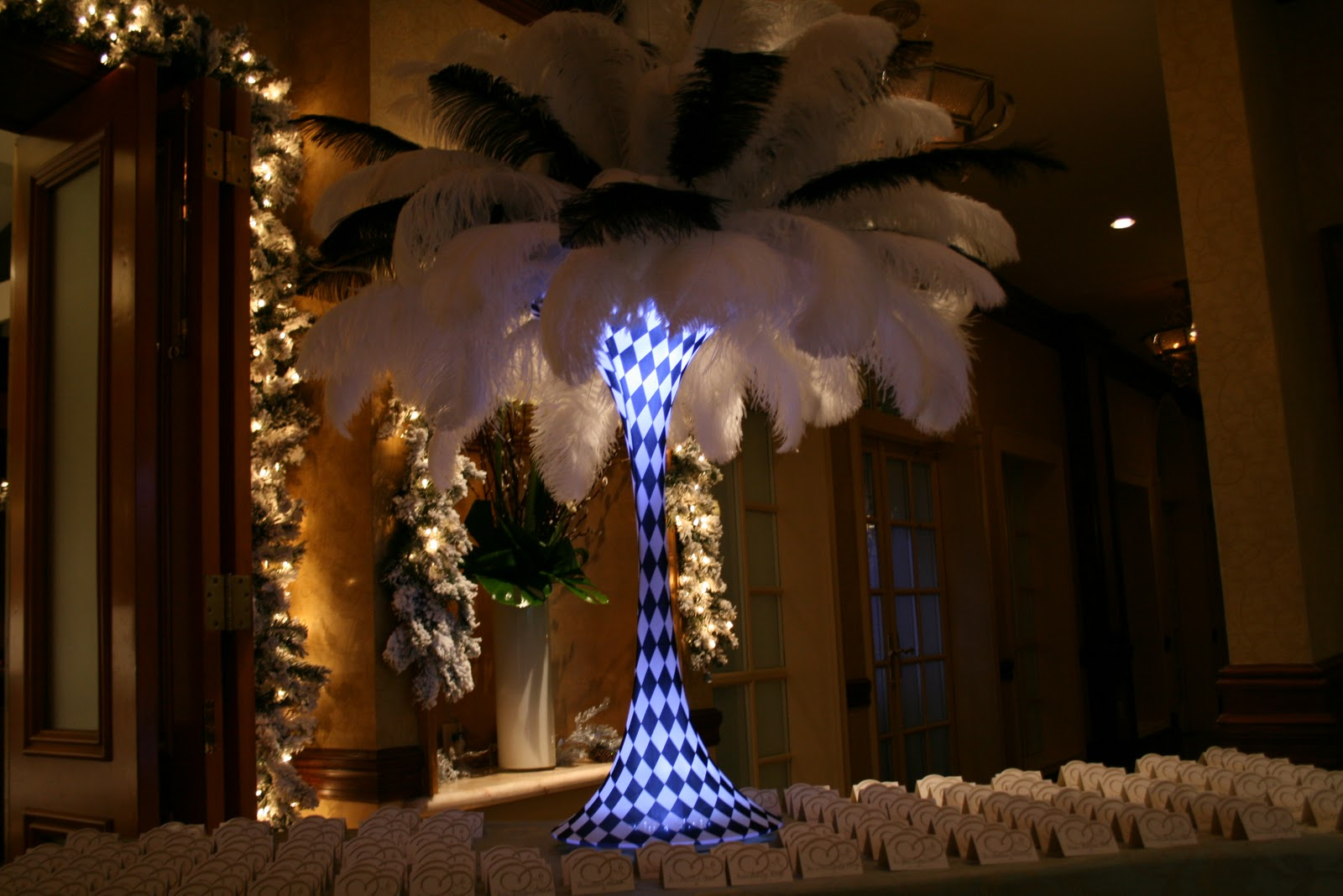 The Feather Diva Black And White Centerpieces Part Two