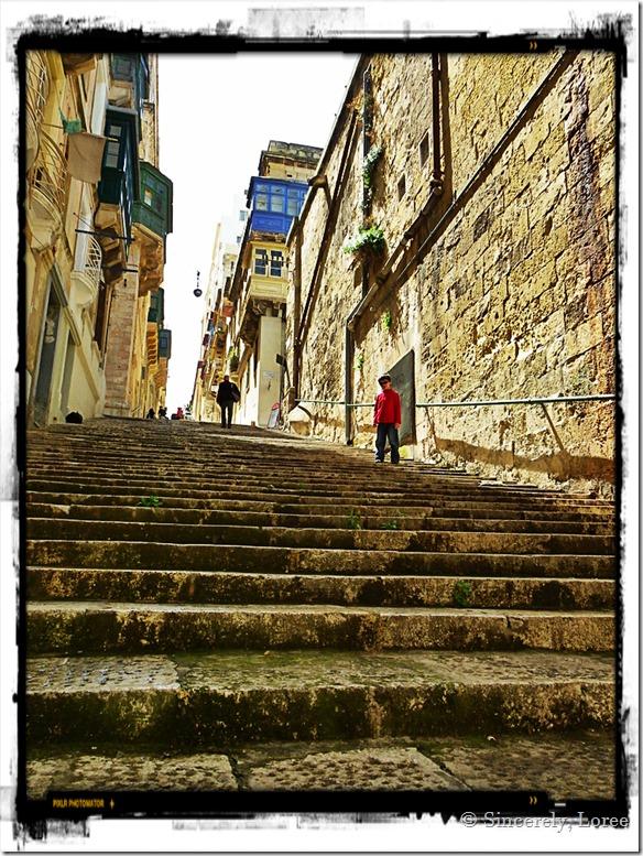 Valletta's Streets of Steps