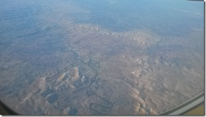 north african desert from airplane