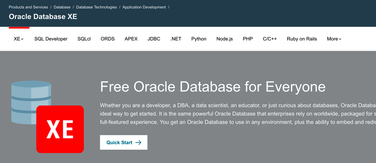 Oracle 18c XE – Comes with in-database and R machine