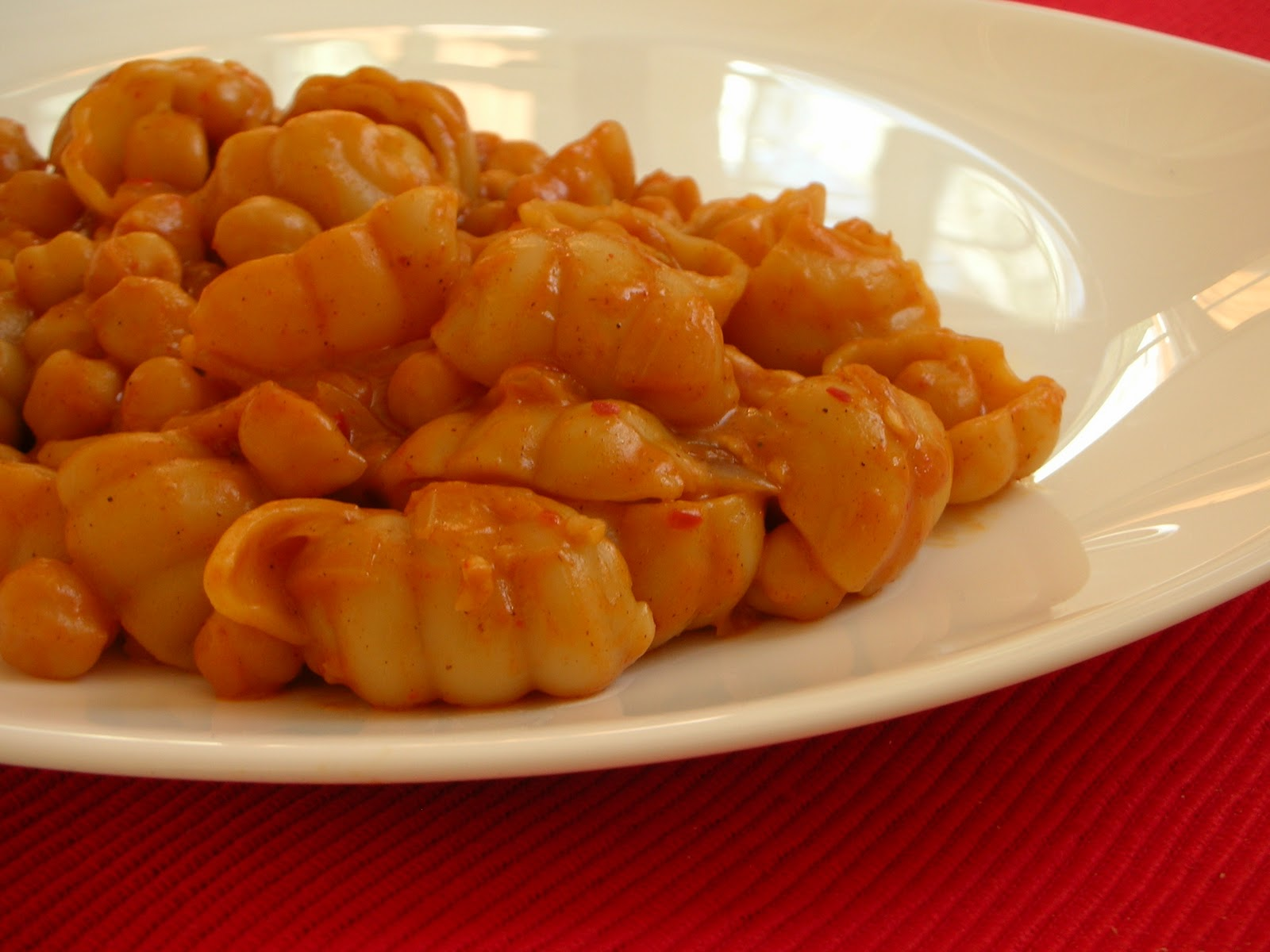 Pasta With Chickpea-Tomato Sauce Recipe — Dishmaps