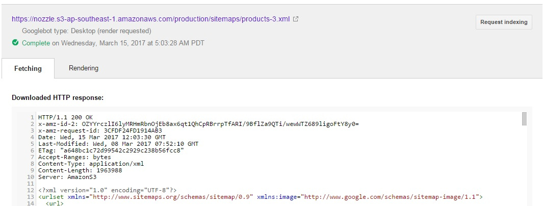 @Goyloo, I think everything is fine. For proof here is the snapshot: Re: Error while Submitting S3 XML sitemap ...