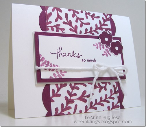 LeAnne Pugliese WeeInklings Endless Thanks Stampin Up