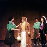 Rita Russell, Christine Boice Saplin, Colin McCarty and Eileen McCashion in ON THE VERGE - January/February 2000.  Property of The Schenectady Civic Players Theater Archive.
