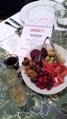 DaNet zakuski of PicklesPicklesPickles that included pickled mushroom, rhubarb, beet, cranberry and strawberry which was perfect with the vodkas